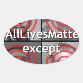 All Lives Matter Oval Sticker
