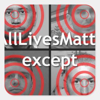 All Lives Matter Square Sticker