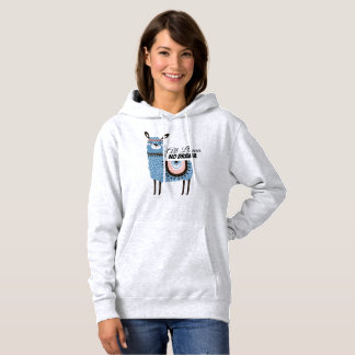 All Llama No Drama Fun and Colorful Hoodie
