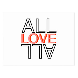 all love all postcard