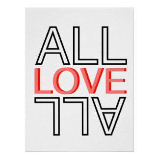 all love all postert poster