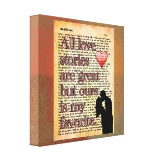 All love stories -- Canvas Art Print