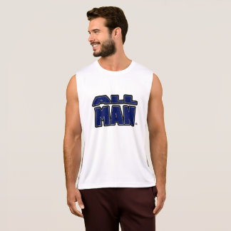 All Man, Blue Letters T-Shirts