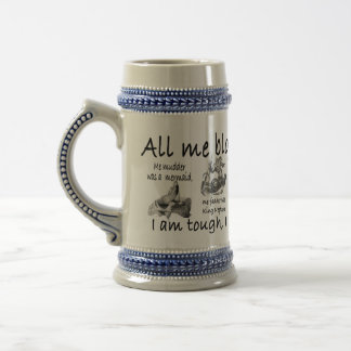 All me bloomin life beer stein