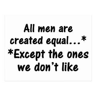 All men are created equal 2 postcard