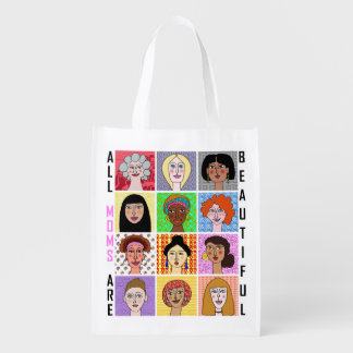 ALL MOMS ARE BEAUTIFUL REUSABLE GROCERY BAG
