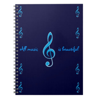 All music is beautiful notebook