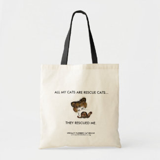 """""""All my cats are rescue cats"""" charity Tote Bag"""