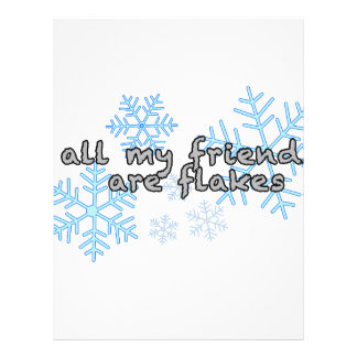 All My Friends Are Flakes Customized Letterhead