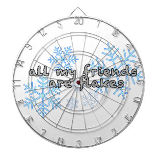 All My Friends Are Flakes Dartboard