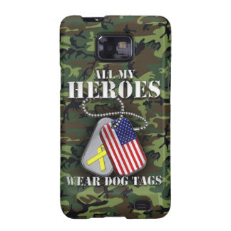 All My Heroes Wear Dog Tags - Camo Galaxy S2 Covers