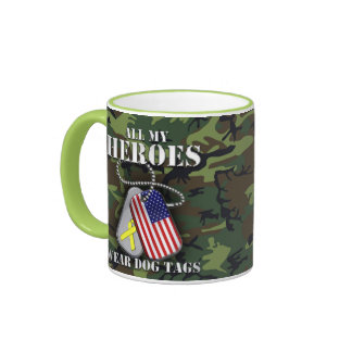 All My Heroes Wear Dog Tags - Camo Coffee Mug