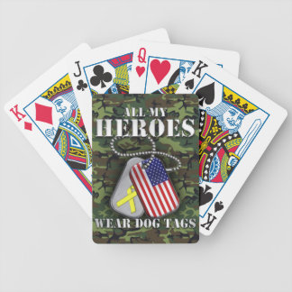 All My Heroes Wear Dog Tags - Camo Deck Of Cards