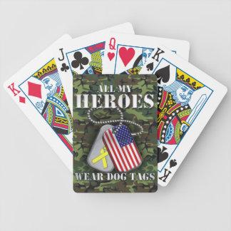 All My Heroes Wear Dog Tags - Camo Poker Deck
