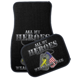 All My Heroes Wear Dog Tags Car Mat