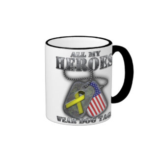 All My Heroes Wear Dog Tags Mugs