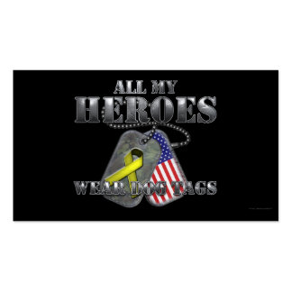 All My Heroes Wear Dog Tags Pack Of Standard Business Cards