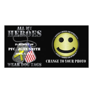 All My Heroes Wear Dog Tags Picture Card