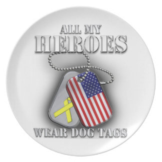 All My Heroes Wear Dog Tags Dinner Plate
