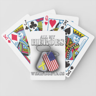 All My Heroes Wear Dog Tags Bicycle Playing Cards