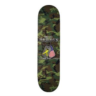 All My Heroes Wear Dog Tags Skate Board Deck