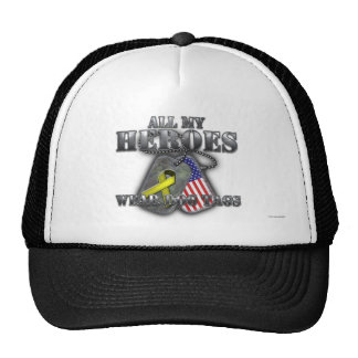 All My Heroes Wear Dog Tags Trucker Hat