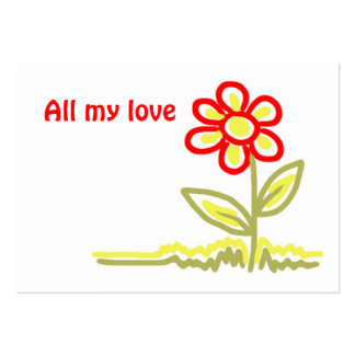 All my love gift tag business card templates