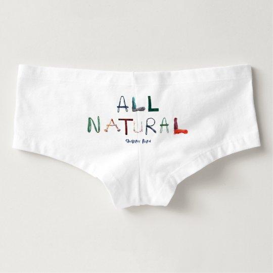 All Natural - White Boyshorts
