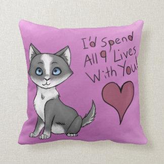 All Nine Lives Throw Pillow