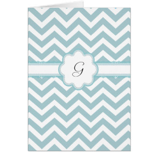 All Occasion Chevron Monogram  Thank You Note Card