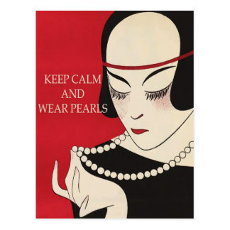 All Occasion Keep Calm and Wear Pearls PostCard