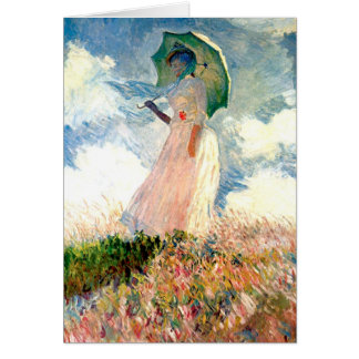 All Occasion Monet Woman with Parasol Card