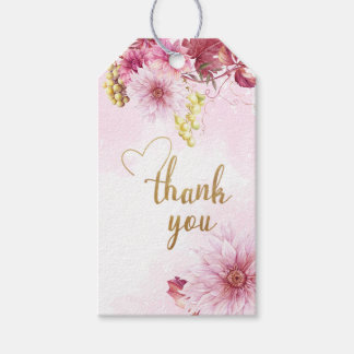 All Occasion Pink Dahlia Thank You Gift Tag