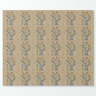 All Occasion Wrapping Paper-Floral Design painted Wrapping Paper