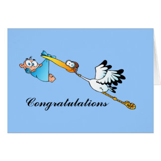 All Occasions Blue Boys Stork Card