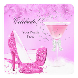 All Occasions Pink Margarita High Heels Party 2 Card