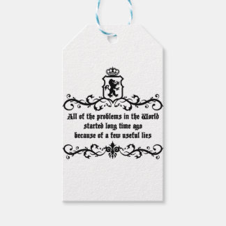 All Of  he Problems In The World ..quote Pack Of Gift Tags
