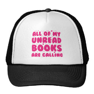 all of my unread books are calling trucker hat