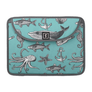 All Of The Sea Pattern MacBook Pro Sleeves
