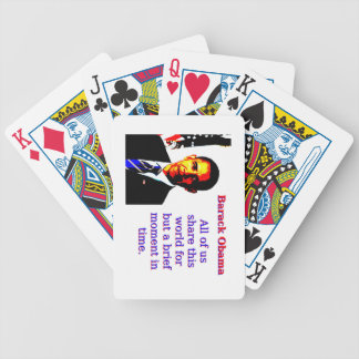 All Of Us Share This World - Barack Obama Bicycle Playing Cards