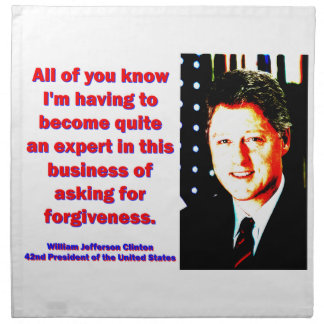 All Of You Know - Bill Clinton Cloth Napkins