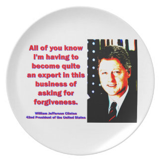 All Of You Know - Bill Clinton Plate