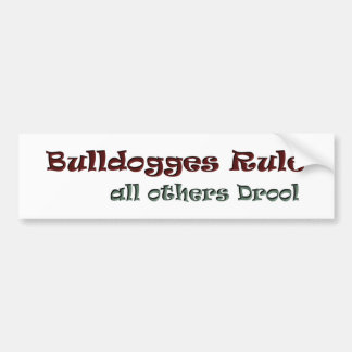 all others drool bumper sticker