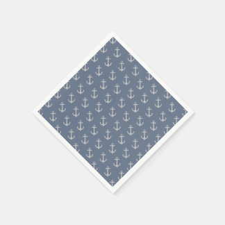 All Over Anchor Pattern Paper Napkin
