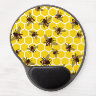 All Over Bees on Honeycomb Mouse Pad