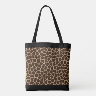 All-Over Giraffe Print Tote Bag