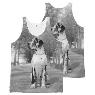 All over Great DAne All-Over-Print Tank Top