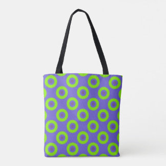 All-Over Green and Blue tote bag