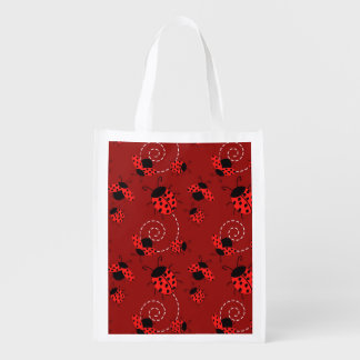 All Over Ladybug Design Reusable Grocery Bag