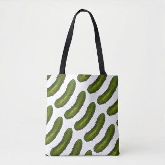 All-Over Print Green Dill Pickle Pickles Tote Bag